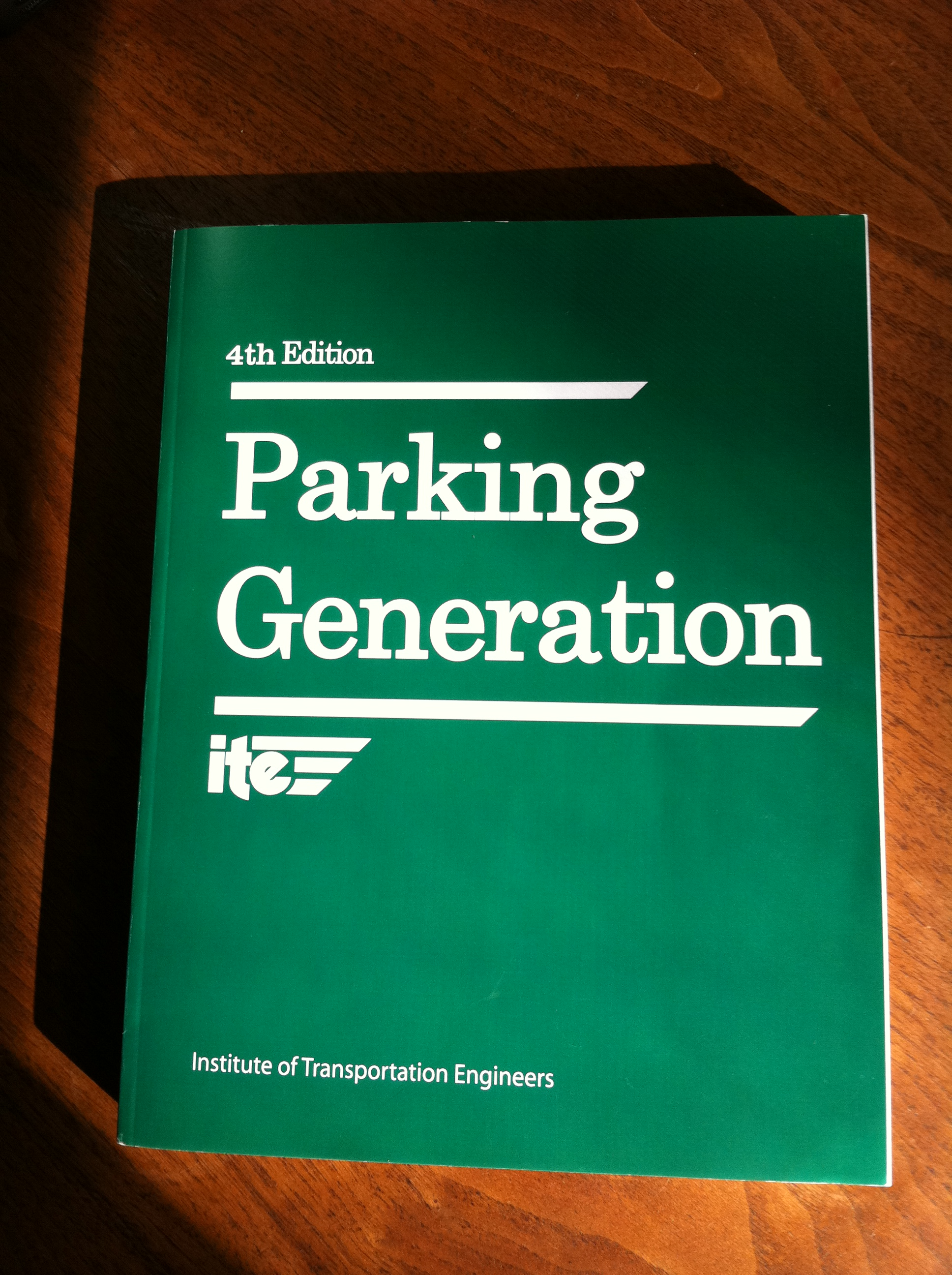 ITE's Parking Generation Report, 4th Edition