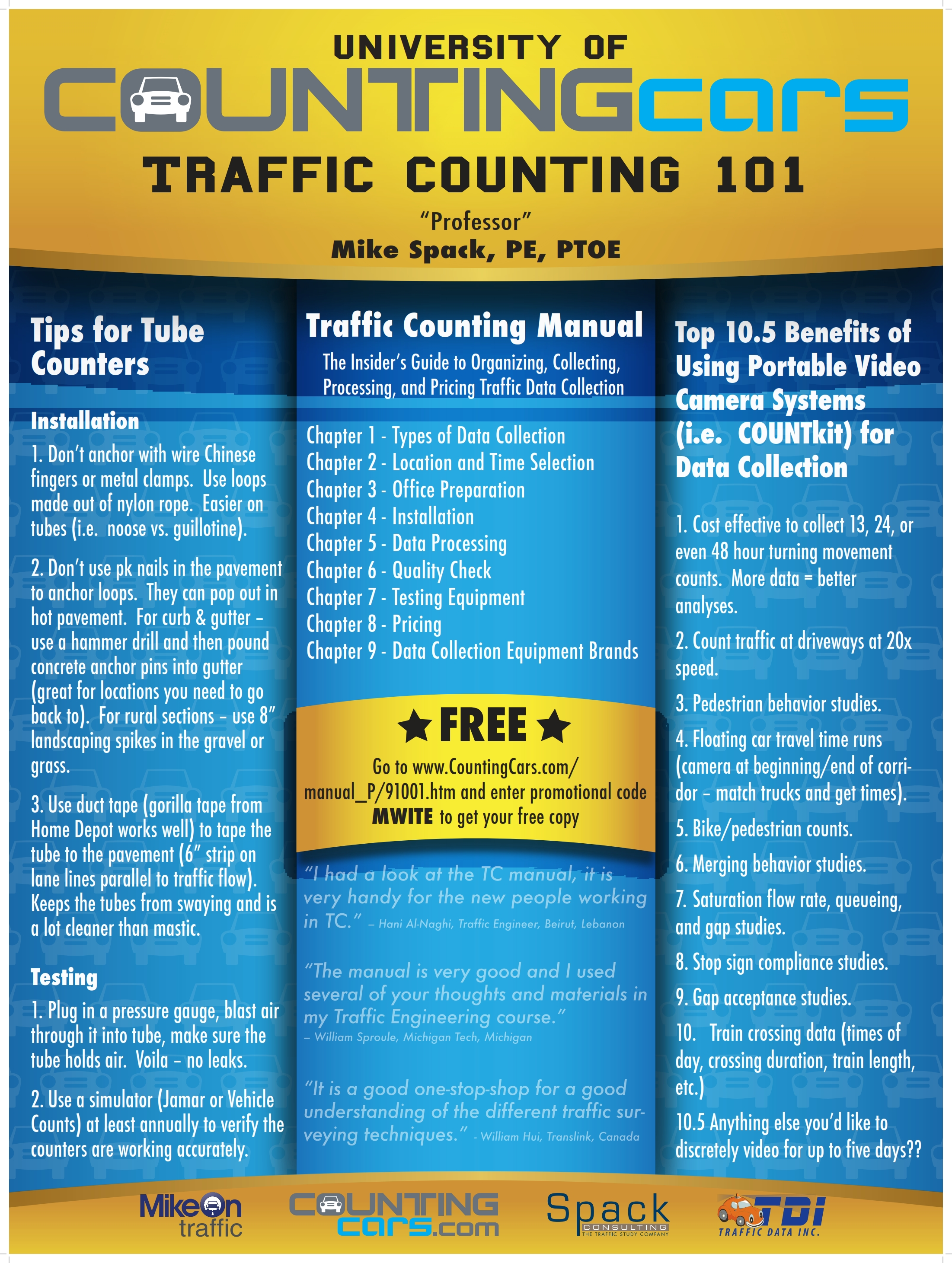 Traffic Counting 101 - Spack's Midwestern ITE Poster - Mike